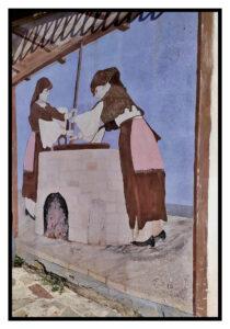 grande murales nell'abitato di Tonara