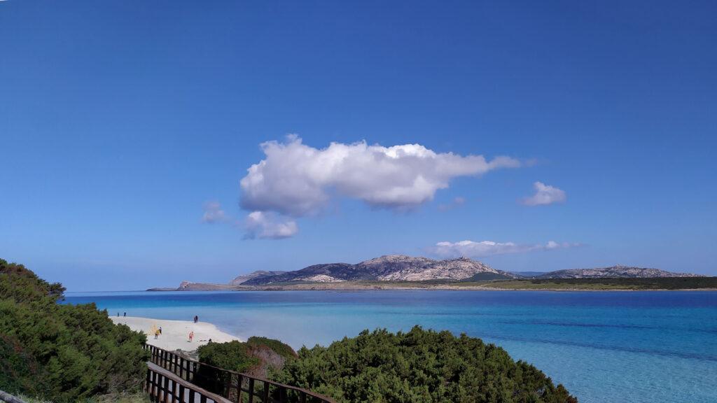 magnifica vista prima di scendere in spiaggia