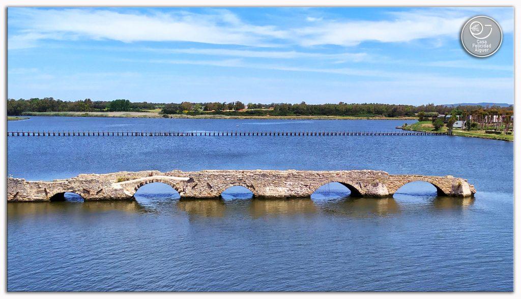 ponte vecchio che serviva ad attraversare da alghero a fertilia